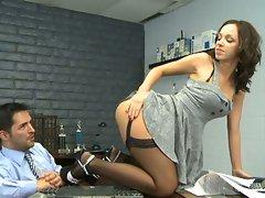 Ho Jada Stevens gets her deserved pummeling bent over the desk