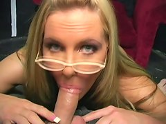 Phoenix Marie uses suction cleaning to lick this dick hard and make it drool
