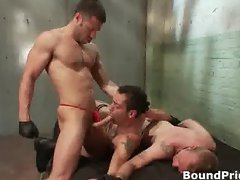 Tristan and Riley in extreme gay BDSM part6