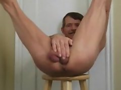 Bareback Ass Fucking and Creampie Self Fuck 02