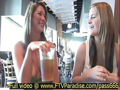 Lina amazing blonde girl in a restaurant eating