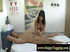 Asian masseuse loves jerking off