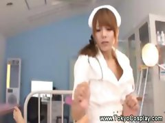 Nympho hot and wet asian nurse gets hot