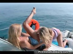 Naughty blonde chicks having part5