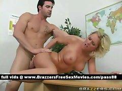 Hot naked blonde schoolgirl on the desk