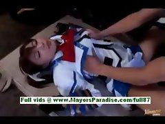 Miyu hoshino amateur asian girl on the floor kissing