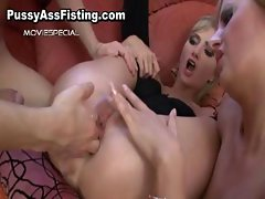 Whore gets her gaping ass fisted part2