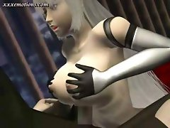 3D animate blonde with big tits is getting nailed by cock