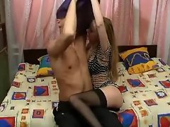 No sound: Cute russian teen getting it
