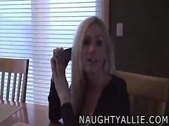 Naughty Allie Tittyfuck On Phone