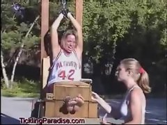 Basketball tickle