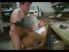 Amateur - French Couple Fuck In Workstation