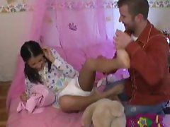 ABDL adult baby diaper change