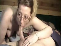 Country MILF downs a long cock to her throat