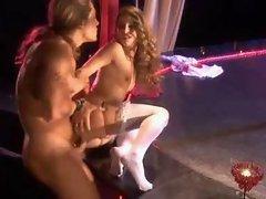 Brunette Stripper Riding Hard Cock