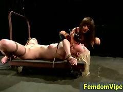 Bondage slut twisted up