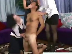 Femdom cfnm fetish bitches pulling victims cock