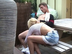 Public blowjob by a beautiful young teen girl at a restaurant COOL