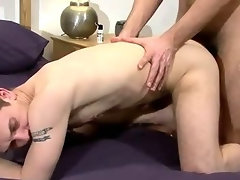 Horny amateur hunk getting his tight ass fucked