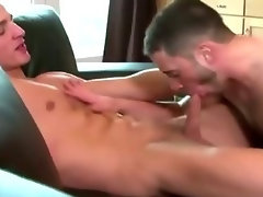 Straight dude plays bottom for hard cock