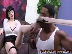 Interracial cock loving hoe gets nasty