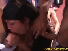 Brazil party fucking in group taking huge cocks hard