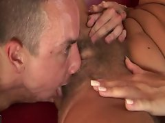 blonde hairy mature fucks younger guy