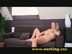 Casting - Chubby pretty princess strokes me off