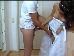 Bride gets her cunt fucked from behind Part 1