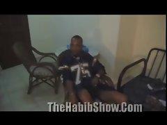 Dominican Hood Pimp Fucks his Hoe while Homies watch