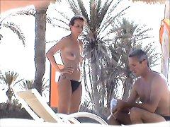 incredible beach topless french girl tunesia