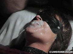 Amateur slut is the cum dump for the entire audience