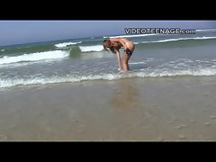 teen nudist at beach