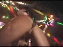 Hot striptease dance public