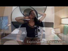 Ebony Teen gets Rammed in Ass in Anal Video