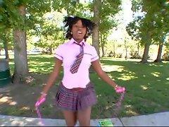 Cute Ebony Schoolgirl Fuck Diamond