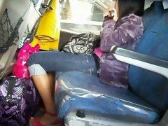 Cute Filipina Pinay Candid Bus Boso High heels