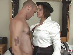 Busty Cop Hollie Benton Get All Holes Filled