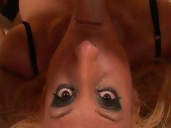 Sexy Sluts Blonde &amp, Brunette Facefucked!!!