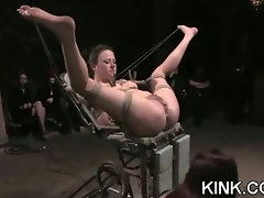 Extreme fantasy of girl bound and double