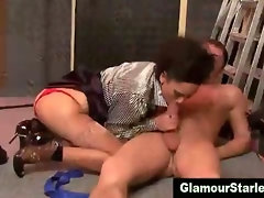Glam clothed fetish whore