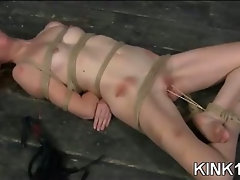 Bound Babe with Hot Wax