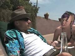 Punk teen gives her boyfriend a blowjob