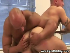 Sneaky homo watching couple get ready for anal