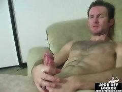 Horny  mature dude masturbates