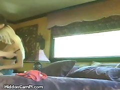 Horny Blonde Sucks PIs Cock