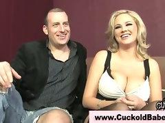 Cuckold interracial sucks big black cock