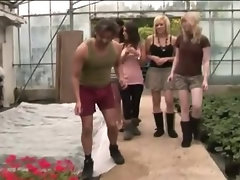 Gardener gets hose tugged