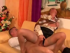 Clothed fetish glamour slut  fuck and facial
