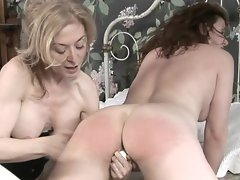 Lesbian vaginal games with Victorian sluts Nica Noelle and Nina Hartley